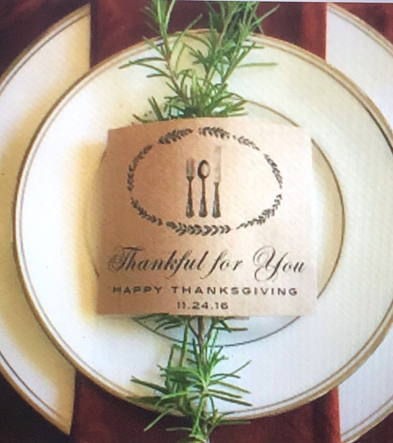 Thanksgiving Table Setting Bundle | Thankful for You Thanksgiving Table Decor » paper & taigh