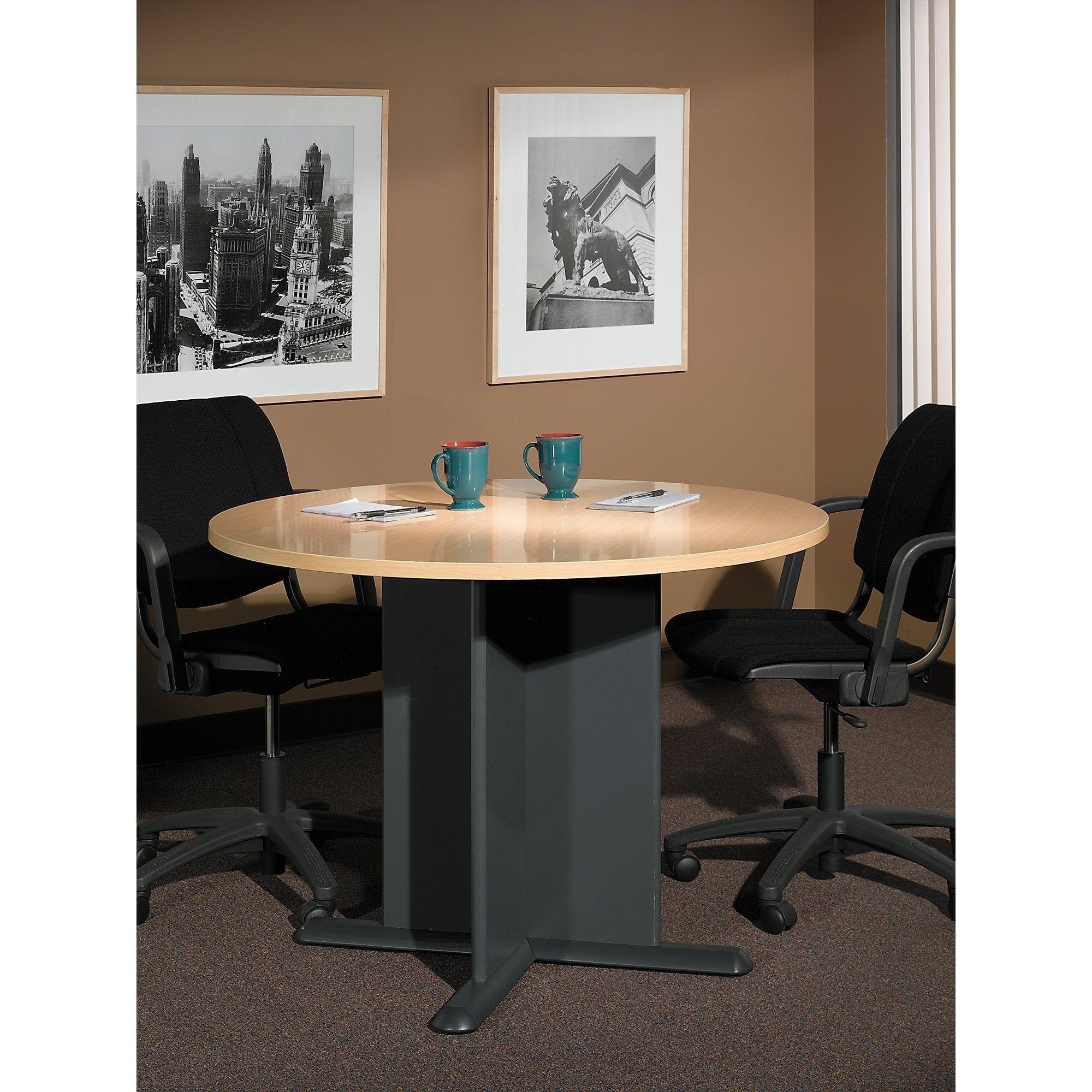 Bush Business Furniture Series C Inch Round Conference Table In - 42 inch round conference table