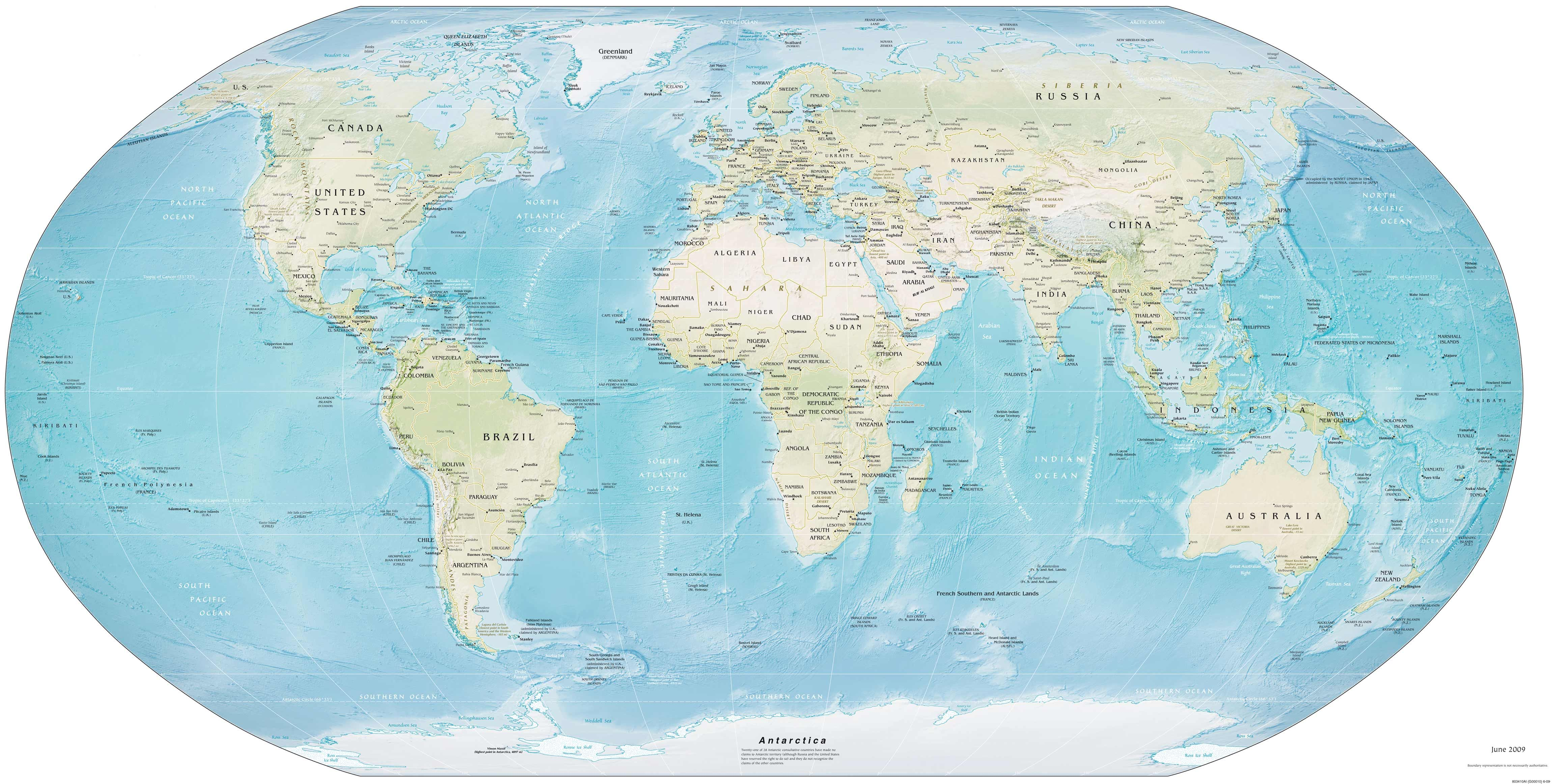 Awesome zoomable world map Detailed world map, World map