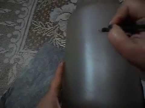 Como passar os riscos para os vidros com falso jateado - how to pass dra...