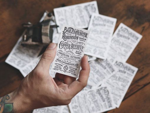 Two Arms: Expert Americana Tattooing Business Cards | business ...