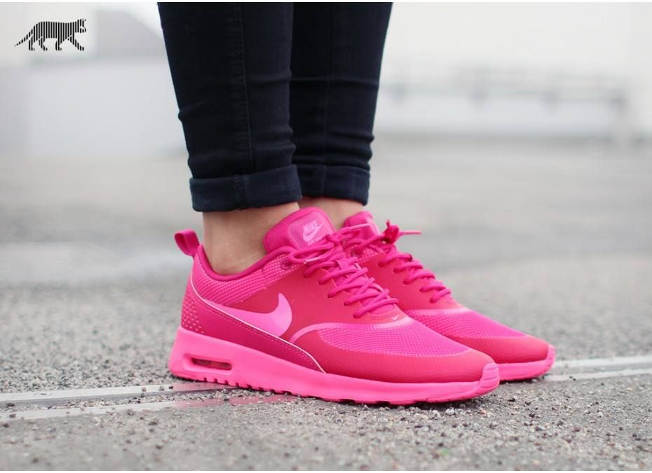 Nike air max thea Color is pink pow and it's really rare! No flaws. No  trades or models. Not completely sure if I want to sell or not So price is  firm.