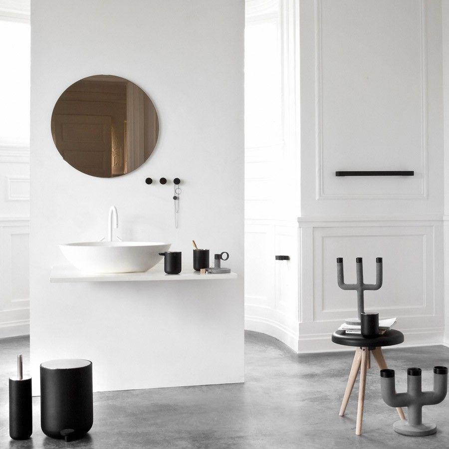 Menu seifenspender norm bath schwarz 11cm schöner wohnen shop norm bath