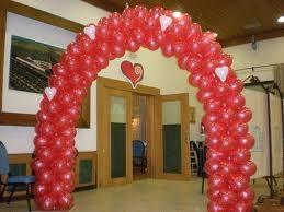 Arco de globos san valentin decoraciones con globos - Decoraciones para san valentin ...
