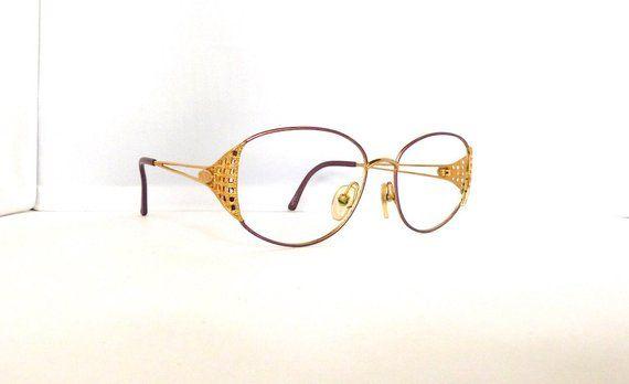 6a8fd903074d Christian Dior Eyeglasses Frames    Women s 1990 s   Pink with Gold Detail  Frames   2881   M105 DIV