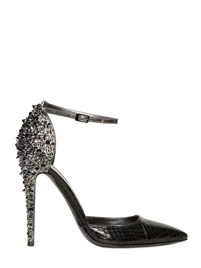 86b02b9551f ... Ankle Strap Pumps Are Definitely NOT Boring. DSQUARED - LALIQUE STUDDED  AYERS PUMPS