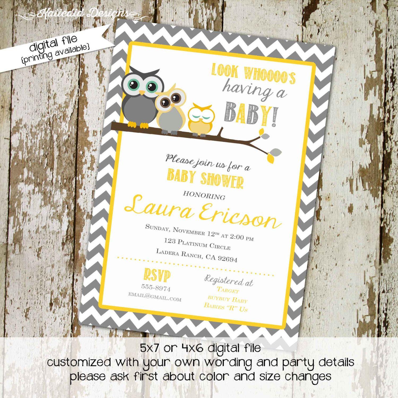 Owl baby shower invitation owl first birthday gender neutral ...