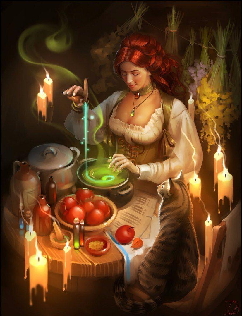 Ведьма колдует картинки