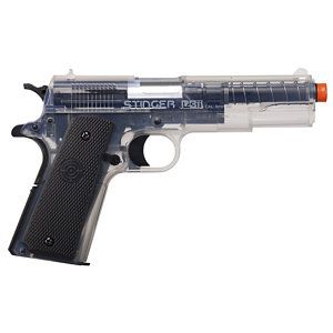 Crosman Single Shot 6mm Airsoft Pistol - Clear   Airsoft