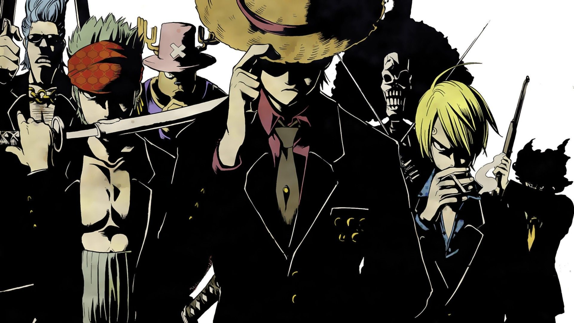 One Piece Luffy Zoro Black Hd Wallpapers Sanji One Piece