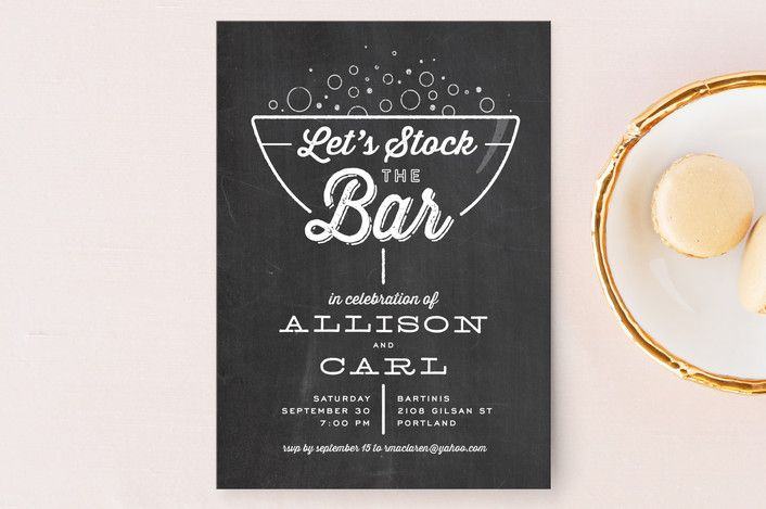Bottoms Up Customizable Bridal Shower Invitations By Carrie Oneal