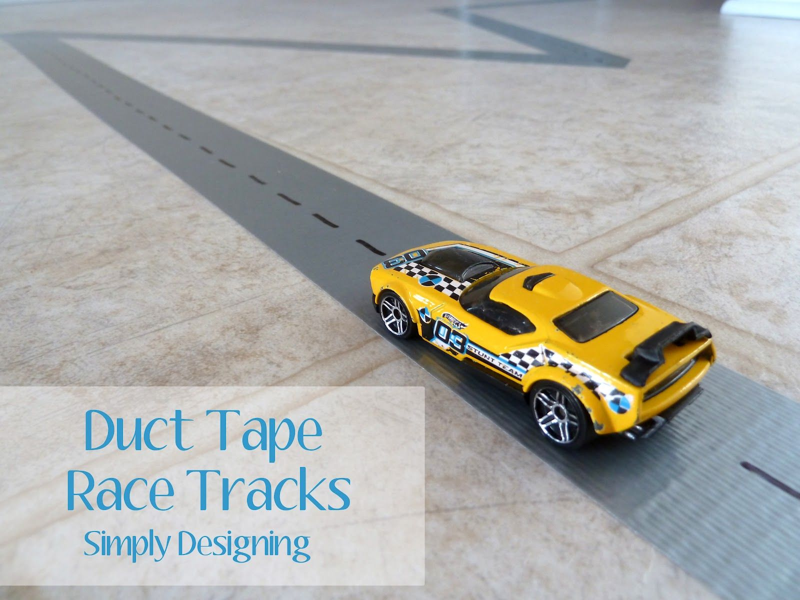 Diy Duct Tape Race Tracks {Boredom Buster}