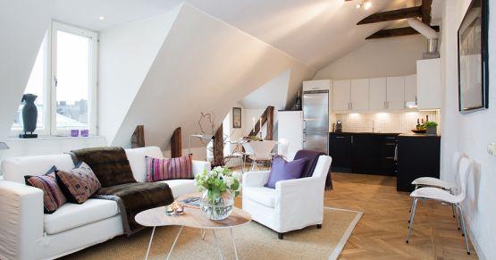 Muebles de diseño estilo nórdico escandinavo distribución diáfana ...