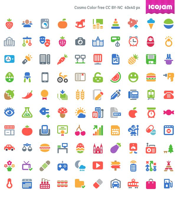free cosmo color vector icons ai psd 100 icons uxdesign