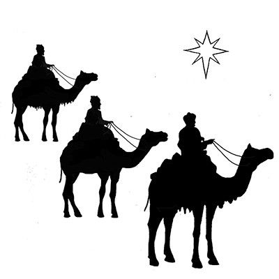 Lavinia Stamps - Clear Stamp - Three Kings and a Star