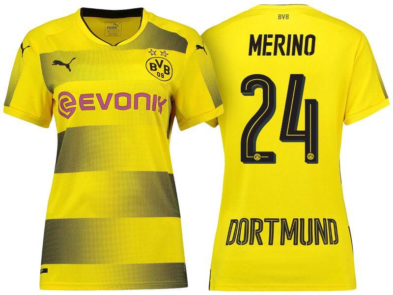 Borussia Dortmund #24 Mikel Merino 17-18 Home Short Shirt Women