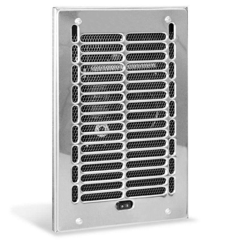 Rbf Series 1000 Watt 120 Volt Electric Wall Fan Heater Bathroom Heater Wall Fans Compact Bathroom