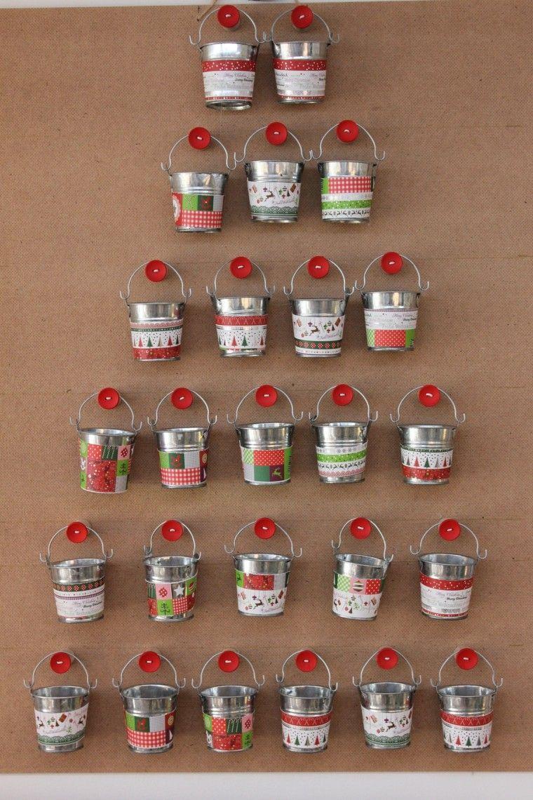 Arbol Navidad Cubos Metal Calendario Calendarios De Adviento  ~ Regalos Originales Para Navidad Manualidades