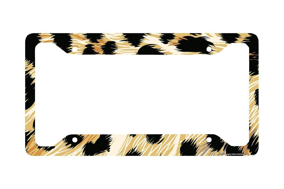 Cheetah License Plate Frame, Cheetah Car Tag Frame, Cheetah License ...