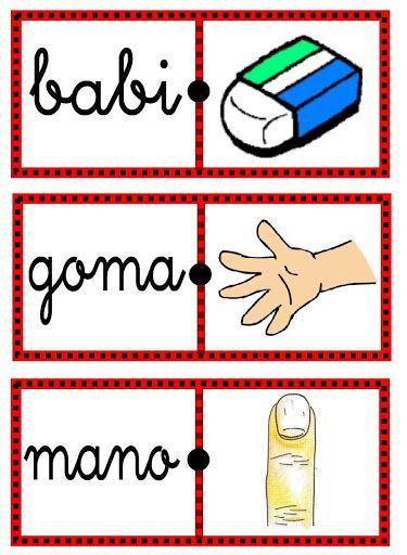 Domino De Palabras Para Imprimir Domino De Palabras Education Playing Cards Domino