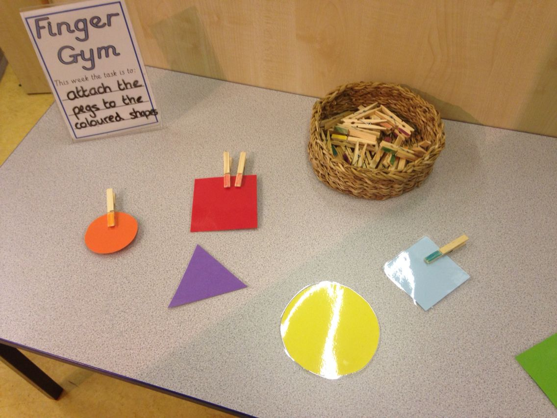Peg Finger Gym Lots Of Our Nursery Children Need To Work Those Pincer Muscles Lots Of Maths In