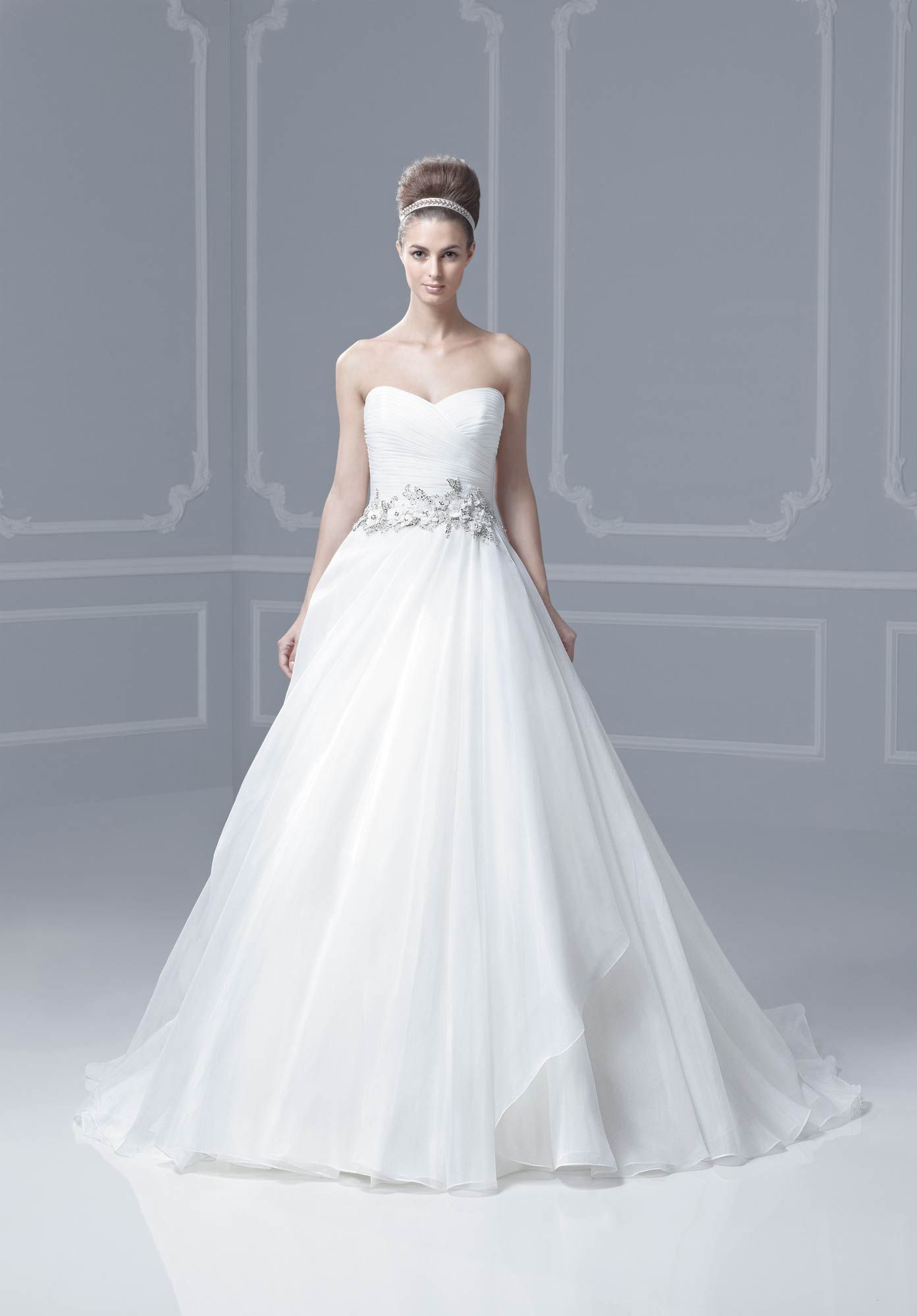 Bridal Wardrobe - Blue by Enzoni Collection - Florida: Ball gown style designer dress of Duchess Organza