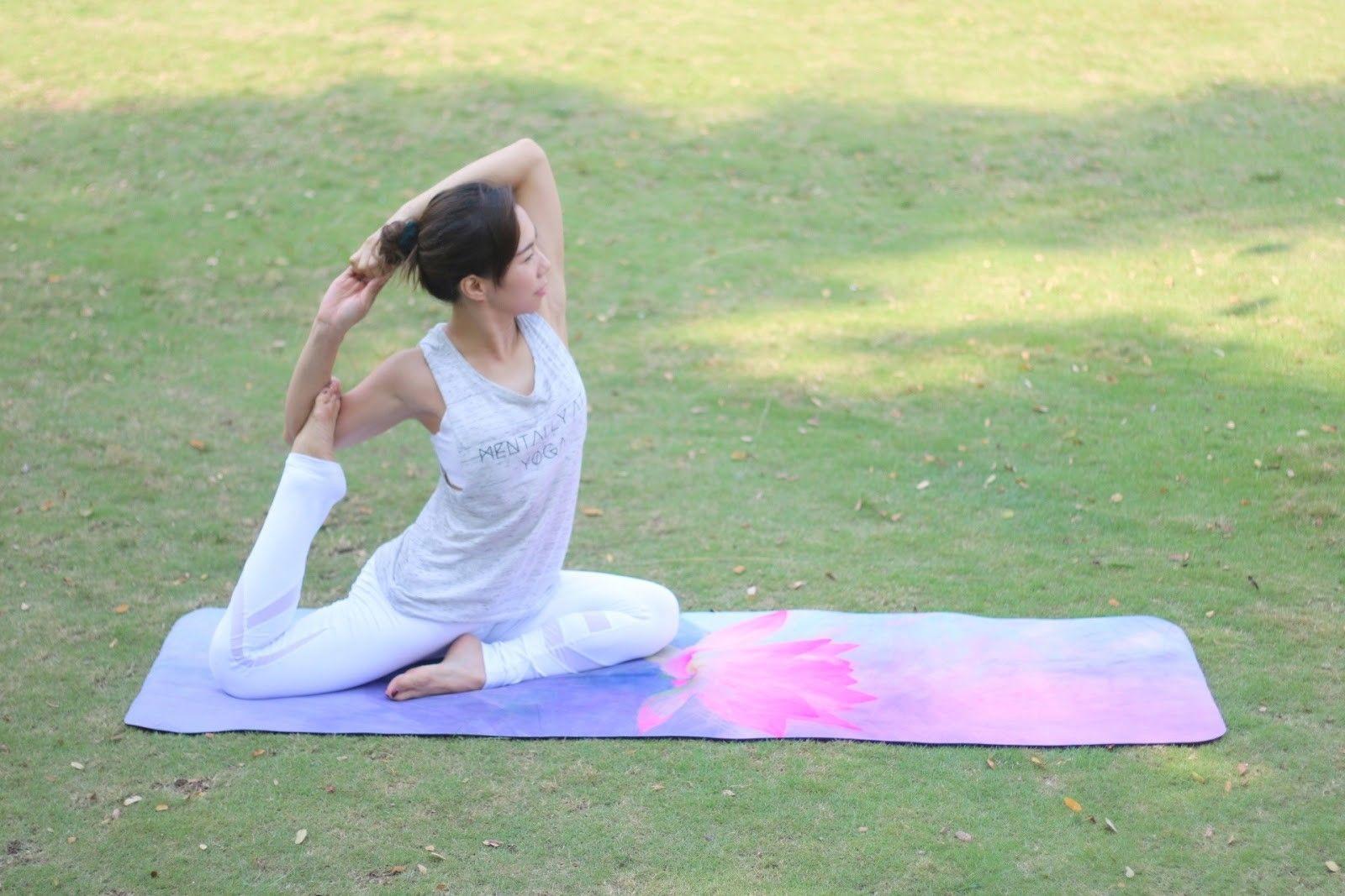 Probing Lotus The Premium Eco Yoga Mat Yoga Pictures Pigeon Pose Yoga Everyday