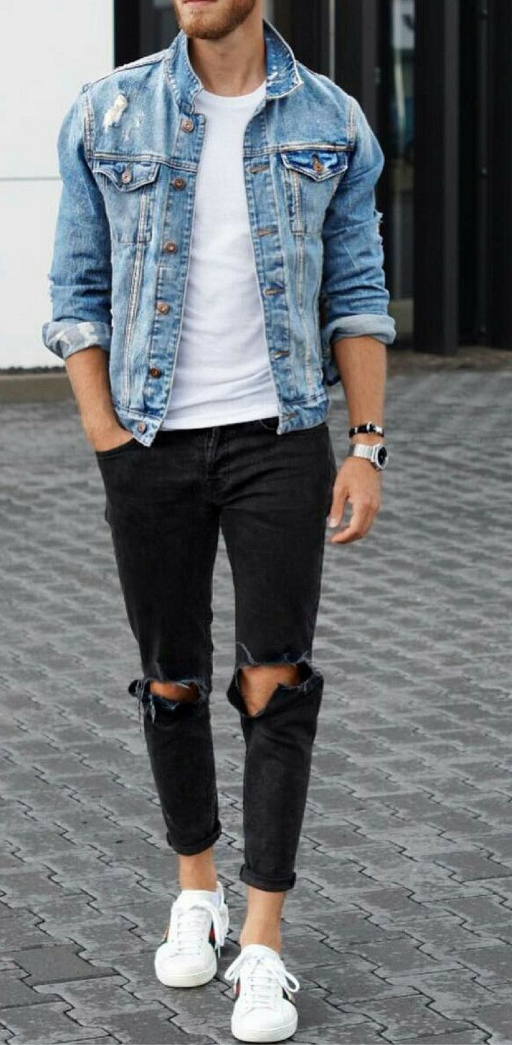 How To Wear White Sneakers For Men In 2019 Men Outfits Ropa De