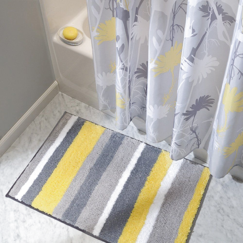 49 Yellow Bathroom Rugs Ideas, Grey And Yellow Bathroom Rugs
