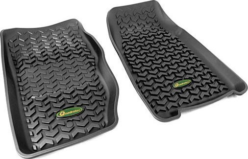 Quadratec Ultimate All Weather Front Floor Liners For 84 01 Jeep