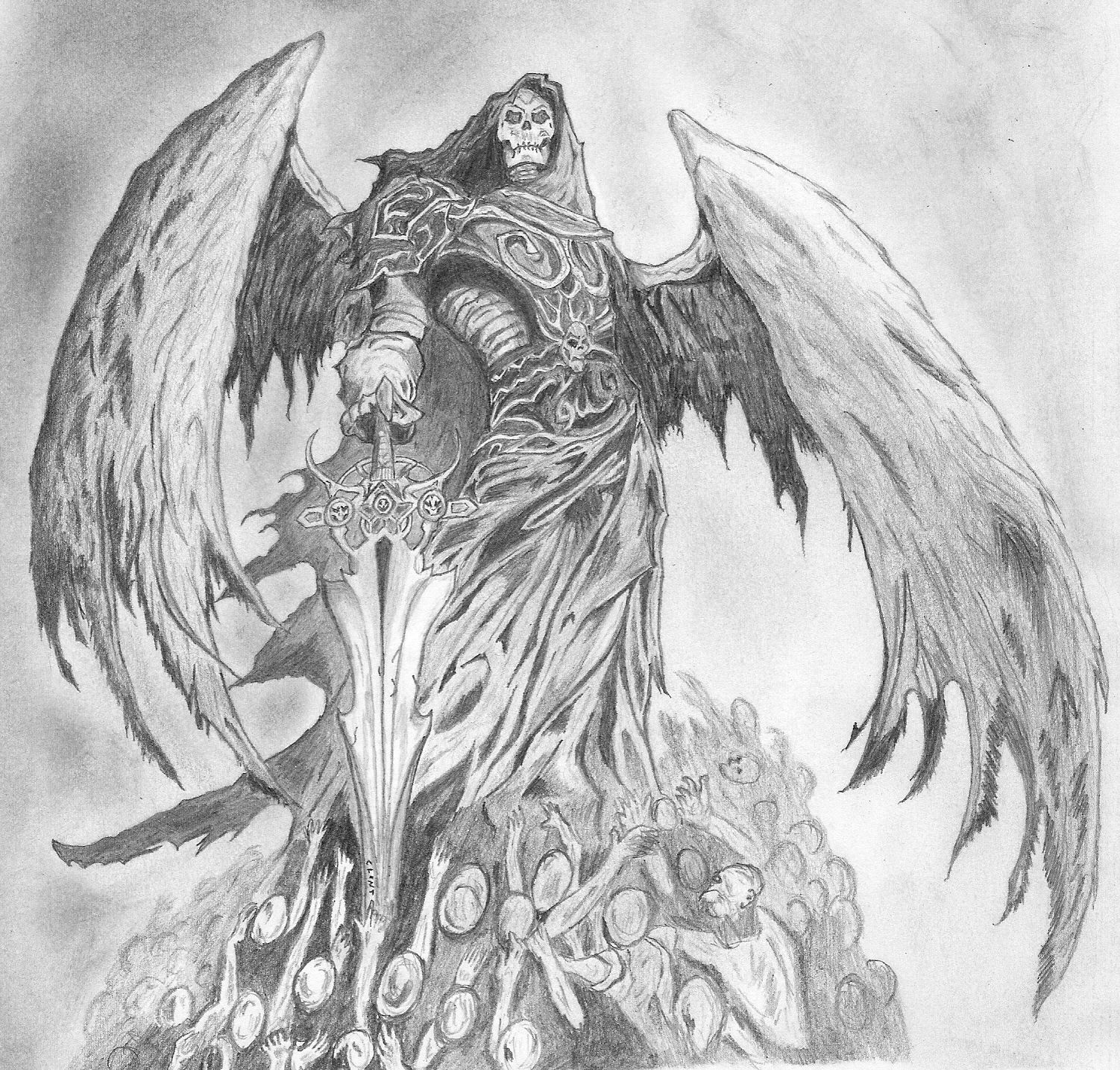 drawings of death angels | Angel Of Death Drawing | Ideas ...