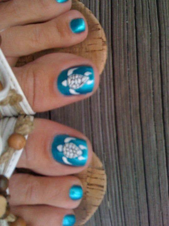 I Want These On My Toes Turtle Nails Beach Nails Turtle Nail Art