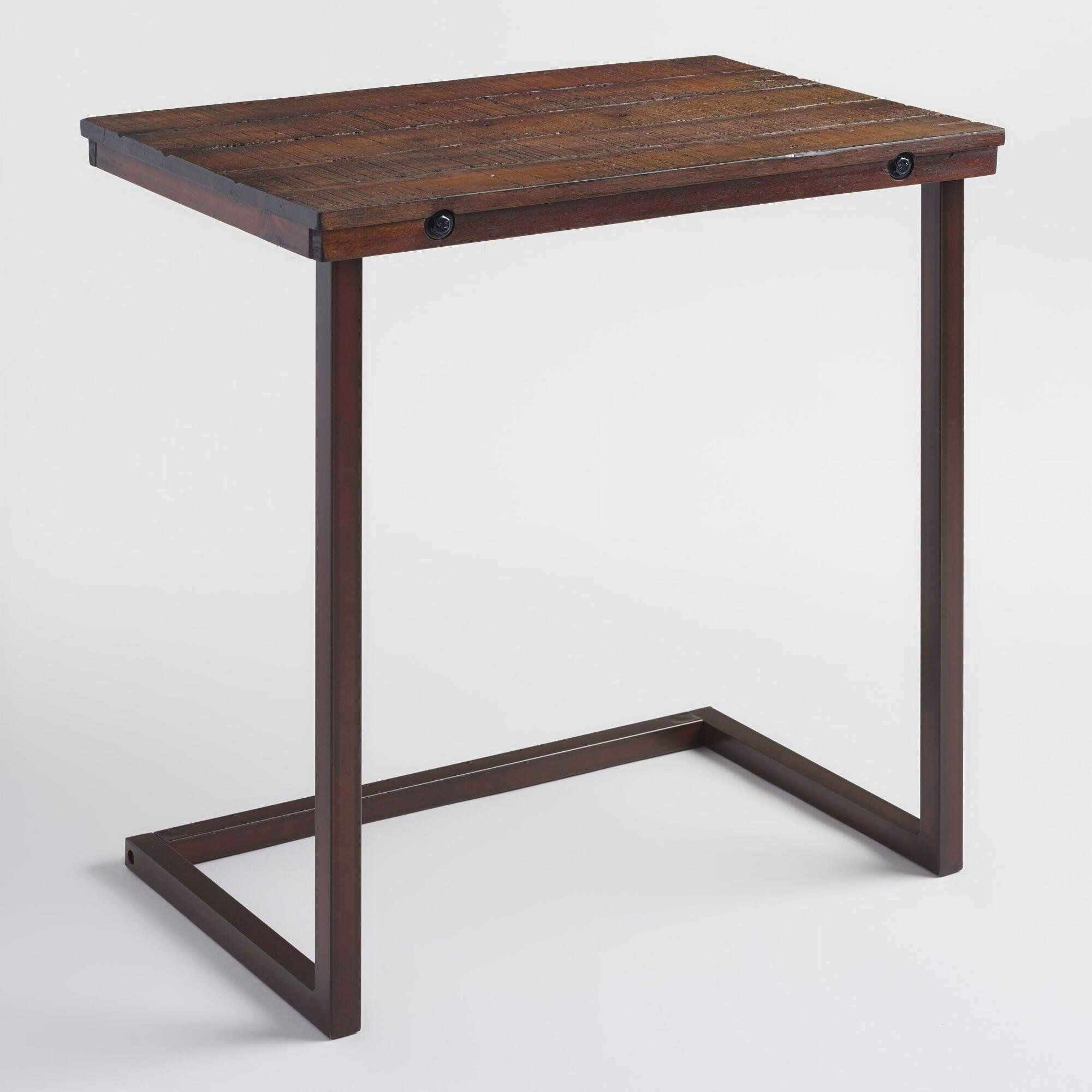 World Market Laptop Table Recliner In 2020 Laptop Table Wood And Metal Furniture