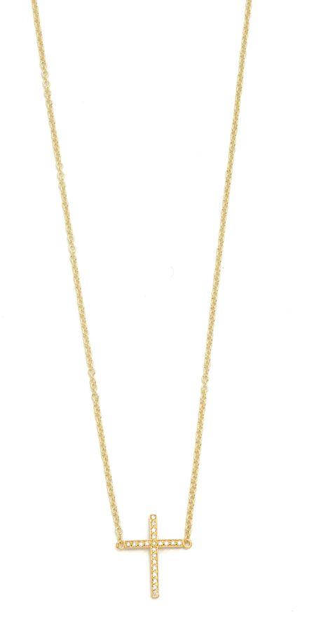 Jennifer Meyer Thin Cross Necklace qOUfFcQ