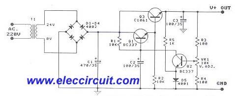 Transistor Variable Power Supply 1a 0 30v With Pcb Transistors