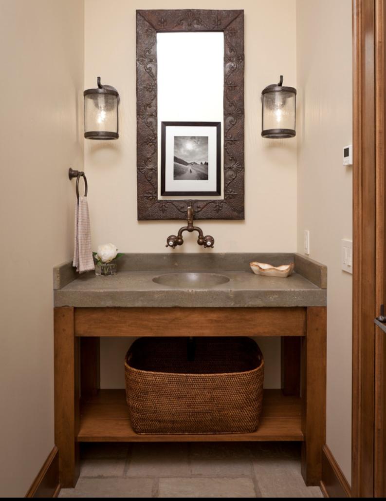 Concrete Vanity For Bathroom Concrete Bathroom Rustic Powder Room Powder Room Design