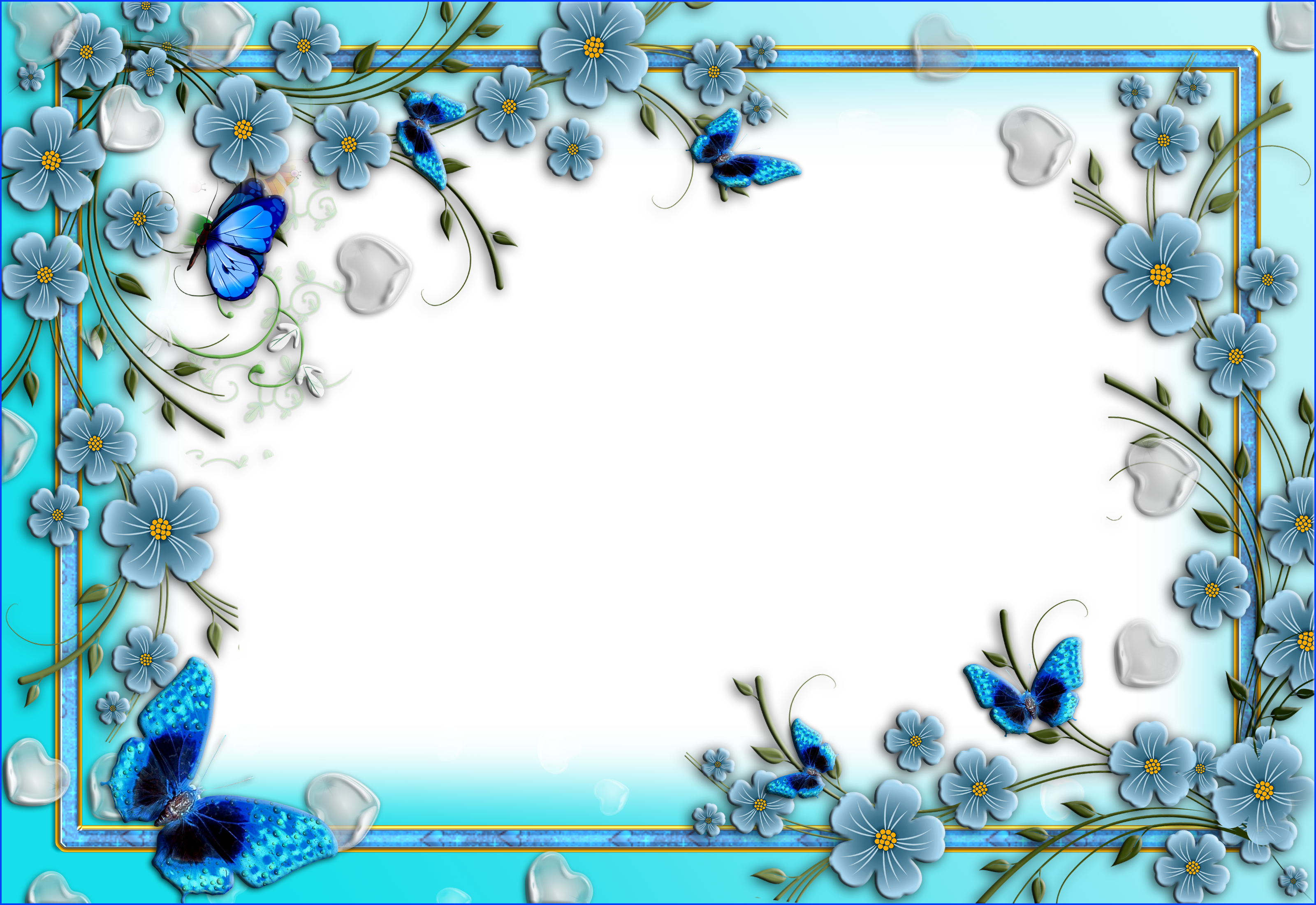Png Fantasy Yahoo Image Search Results Flower Frame Printable Frames Butterfly Frame