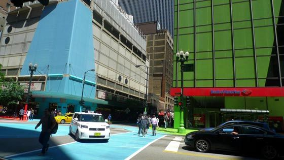 Art Installation in downtown Chicago by Jessica Stockholder
