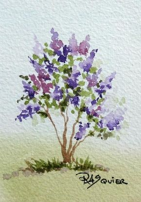 The Scent of French Lilacs by Artist Rita Squier An Original Watercolor Painting I painted on May 4, 2010 This is part of my Painting a Day Challenge which I began on February 1st. The lilacs in my garden are simply wonderful this time of year! • Size: 2.5 x 3.5 inch • 140 lb. Cold Pressed Archival Watercolor Paper • Artist Quality Watercolor Paint • Signed on the Front R.A. Squier, Titled & Dated on the Back • Not Matted and Not Framed • Framing Possibility Shown on the Right ...