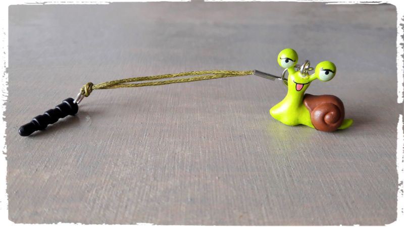 Mobielhanger groene slak