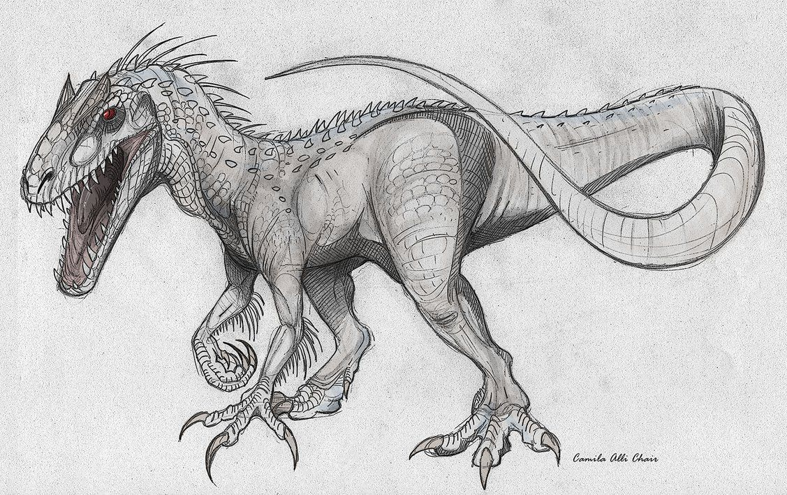 indominus t-rex in drawing form - Google Search | raptor | Pinterest ...