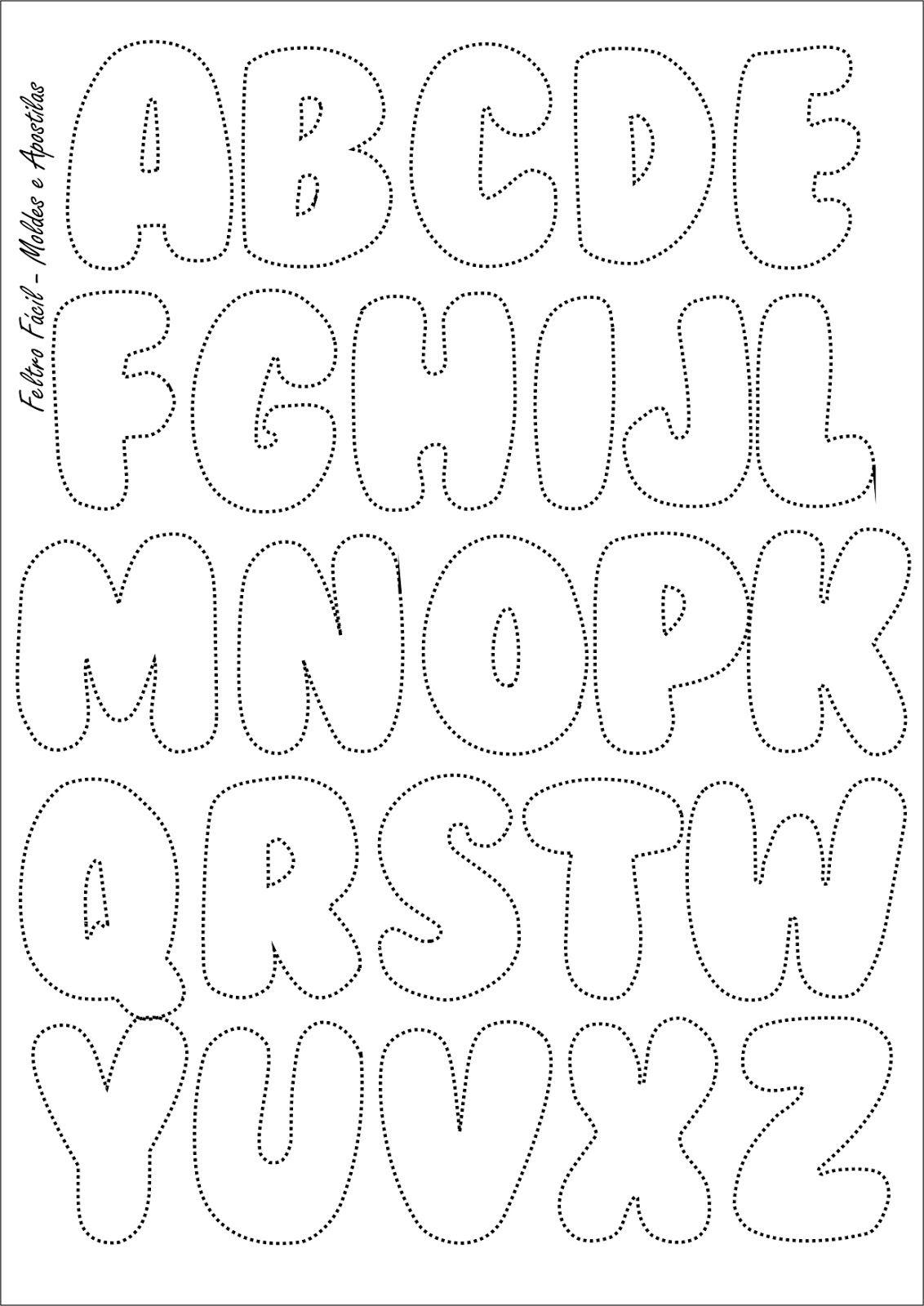 Feltro Fcil Molde Do Alfabeto  Felt Letters Template  Diy