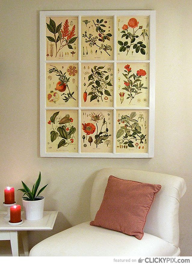 diy wall decoration ideas using vintage book illustrations ...