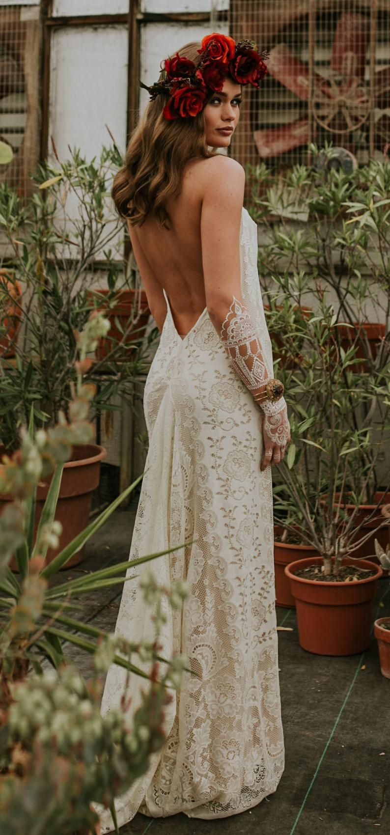 Wedding Dress Boho Wedding Dress Lace wedding dress Casual