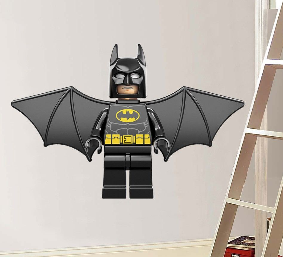 Lego Batman Superhero Wall Decals Art Superhero Wall Decals - Lego superhero wall decals