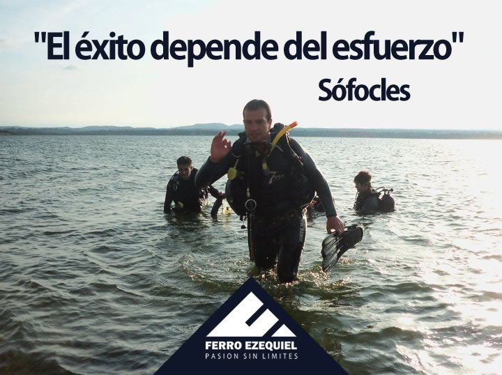 """""""El éxito depende del esfuerzo"""" Sófocles - Ferro Ezequiel - Pasión sin límites."""