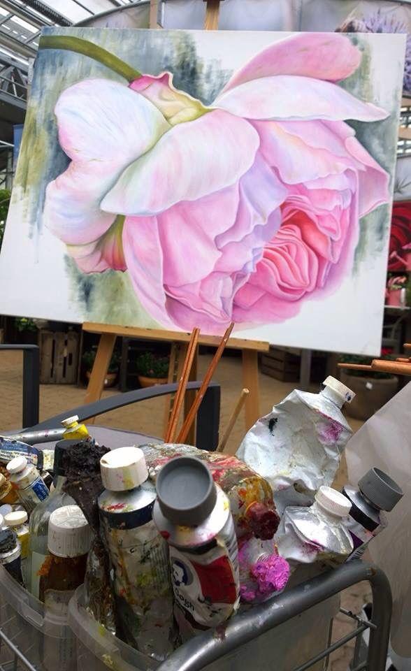 Malen Nach Zahlen Weisse Blumen In Der Vase Tocut