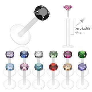 4dd693dea Piercing do brady - labreta 3 mm kámen | nakupy | Labret, Jewelry ...