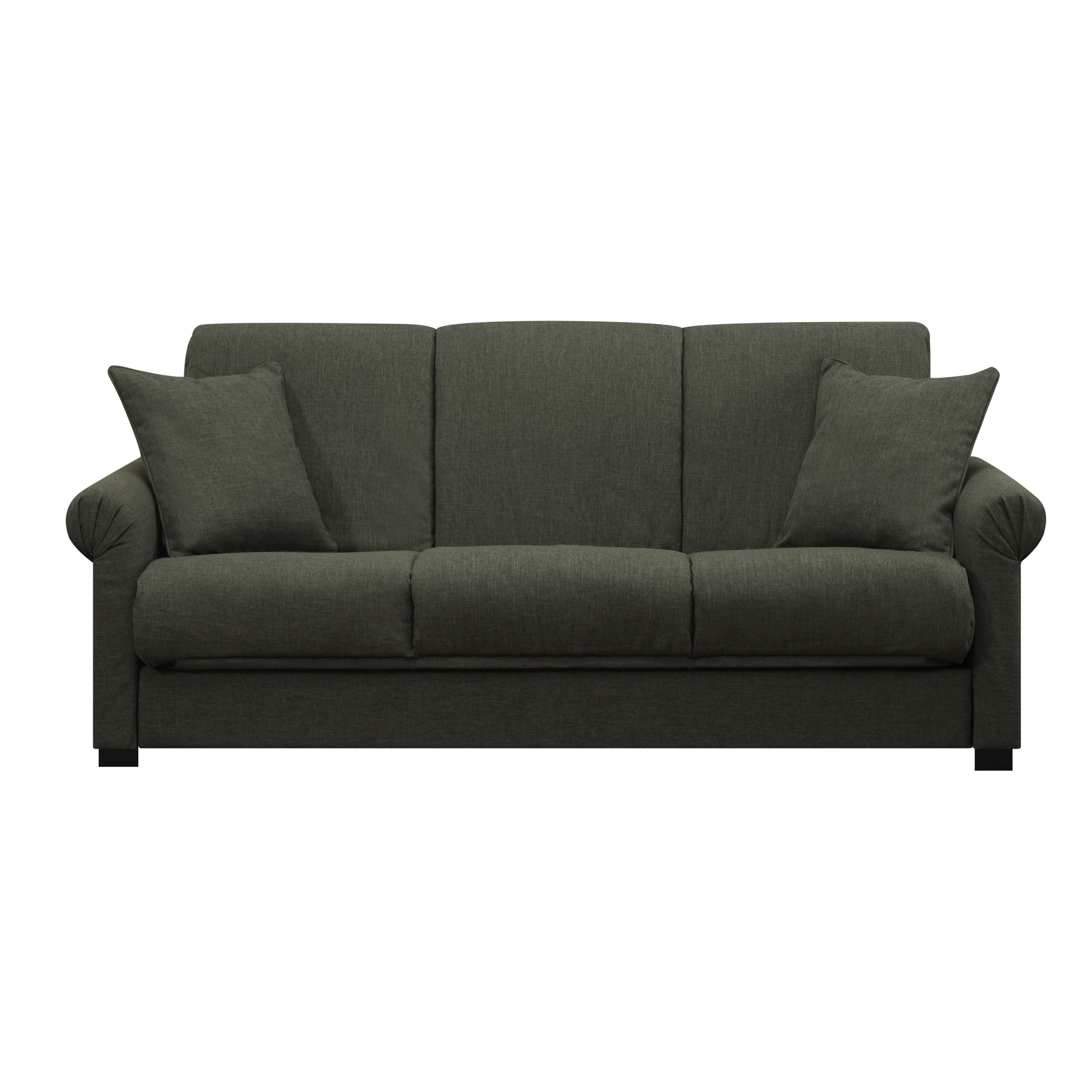 Make A Place For Company To Sleep Without Having To Add An Extra Bedroom When You Place This Gray Futon Sofa Sleeper In The Livin Handy Living Futon Sofa Futon
