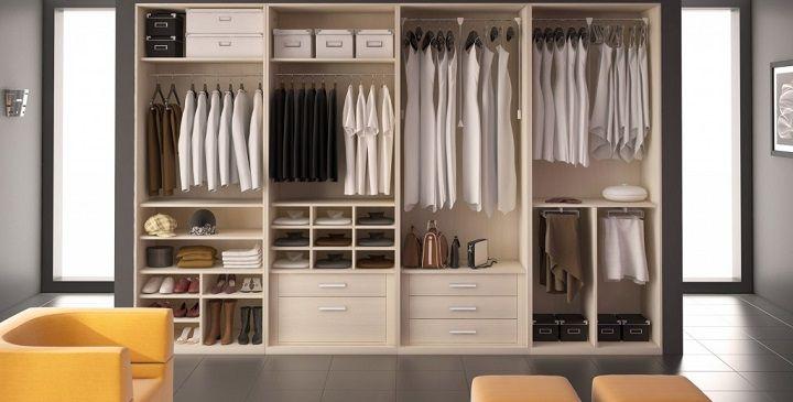 C mo distribuir el interior de los armarios y vestidores - Diseno de interiores de armarios ...